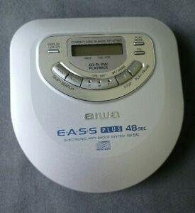 Aiwa XP-V716C Portable CD Player EASS Plus Anti Shock TESTED, WORKS GREAT!