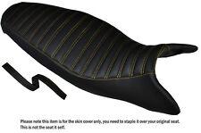 Diseño 3 Amarillo Stitch personalizado se adapta a Triumph Street Triple 675 07-12 cubierta de asiento