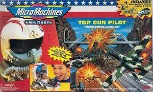 Micro Machines Military Playset - TOP GUN PILOT (Year 1998) - Transforming