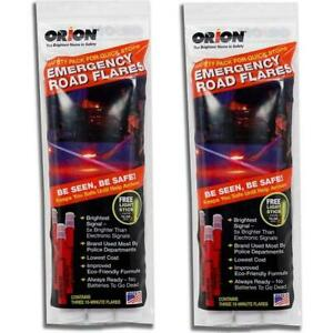 ORION Safety 15 Minute High Visibility Road Flares 2 Pack Set 3153-012A