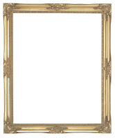 Ornate wood french style swept vintage frame black gold silver white ivory