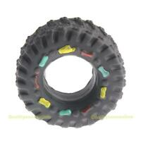 Tyre Treads Tough Dog Toy Puppy Pet Chew Squeaky Toys Hard Wearing Rubber