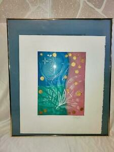 Rare Signed Artist Proof-Donnangelo-Original Aquatint Etching with Color Ink