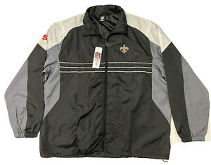 New Orleans Saints Sports Illustrated Dunbrooke NFL Windbreaker Jacket Size XL