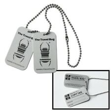 Geocaching Travel Bug® silber mit Copytag Origin standard Groundspeak Travelbug