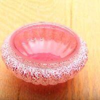 Vintage Pink Trinket Jewelry Bowl Dish Pink Glass