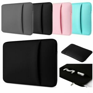 """DOUBLE POCKET Case Cover Bag Pouch Sleeve Fits HP 14a 14"""" Chromebook Laptop"""