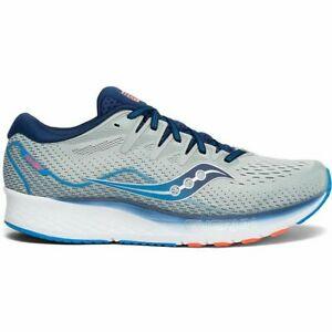 Saucony Men's Ride ISO 2 new in box Neutral Cushioning Running Shoes gry/blue