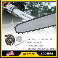 """20/"""" Chainsaw Guide Bar .325/"""" .058/"""" 78 Drive Links F Partner Poulan Redmax Sears"""