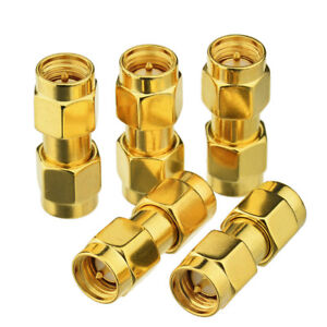 100x RF SMA male To SMA male plug double male RF Coaxial connector Adapter Hot