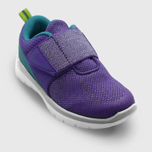 Toddler Girl Size 7 Drusi Adjustable Easy Close Sneakers Shoes Purple