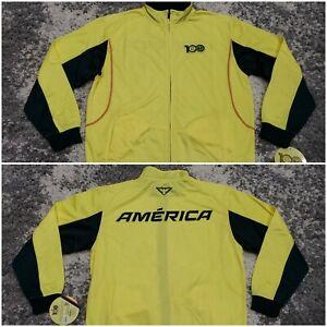 Club America 100 Anos De Grandeza CFAMERICA Full Zip Track Jacket Yellow Men XL