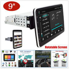 "Rotatable 9"" Screen 1DIN Android 9.1 Car Multimedia MP5 Radio Stereo Player Navi"