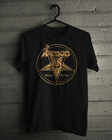 New Venom Metal Band Welcome to Hell Music Graphic Cotton Black shirt size S-2XL