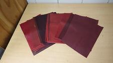 Cuir Lederpaket 20 Pièces de Rouge Aubergine Mélange 20cm X 30cm Environ 1,2 Qm