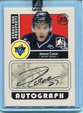 2008-09 ITG Heroes & Prospects Autograph Draft Day Pick  Jordan Caron  #A-JCA