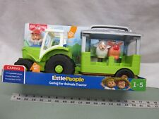 Fisher Price Little People Farm Tractor Caring for Animals Tractor Pig NEW toy