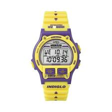 Orologio TIMEX IRONMAN 8-LAP T5K840 Digitale Silicone Giallo Viola Sveglia 100mt