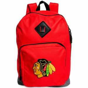 Chicago Blackhawks Backpack With Front Pocket Zipper 17X12X6 NHL