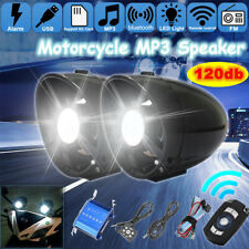 Universal Motorcycle bluetooth AUX USB Audio MP3 Player Stereo Amplifier Speaker