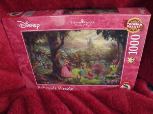Schmidt Disney 1000 Piece Jigsaw Puzzle Sleeping Beauty  by Thomas Kinkade HTF