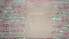TEE SHIRT BENETTON MARRON CLAIR 4 / 5 ANS 110 CM