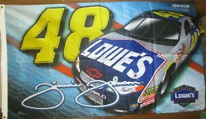 Jimmie Johnson # 48 LOWE'S SINGLE SIDED 3 x 5 FLAG ! FAST SHIPPING !