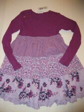 NWT New Naartjie Ribbed Knit & Print Cord Dress Flower Purple Size 8 Holidy 2014
