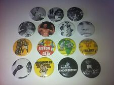 15 Muhammad Ali Cassius Clay button badges 25mm When we were kings Boxing Legend