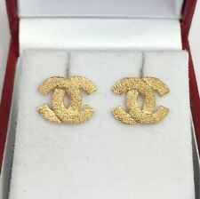 18k Solid Yellow Gold Cute Stud Earrings, 2.10 Grams
