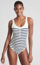 Gap Womens Zip-Front Stripe One-Piece Swimsuit Size XS- NWT