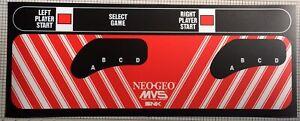 Neo Geo Arcade Control Panel Overlay (CPO) - 23.6 x 9.25 inches
