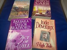 Lot of 4 Paperback Books - Hill Towns, Act of Will, High Tide, Paradise Valley
