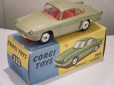 """Corgi No: 222 """"Renault Floride"""" - Light Green (Boxed/Original 1960's)"""