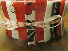 Shades Of Red, White & Black Jelly Roll For Quilters