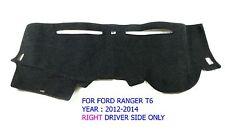 FOR FORD RANGER T6 WILDTRAK 2012-2014 RIGHT BLACK DASH MAT DASHMAT CARPET COVER