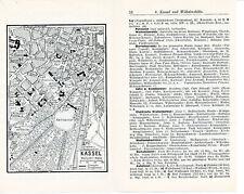 Kassel + Wilhelmshöhe 1931 kl. Stadtplan + Reisef. (8 S.) Königsplatz Murhard-B.