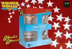 Schnapsglässer Vetro - Dc Wonder Woman 4er Set Colpo Occhiali Nuovo/Originale