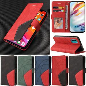 Flip Case For Motorola Moto G30 G10 G50 G100 G9 Play Matte Wallet Leather Cover