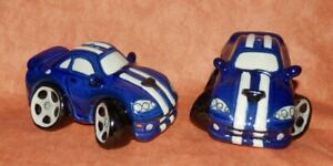Lovely quirky collectable blue character salt/pepper pots #2