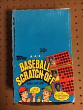 1981 Topps Scratch-off Full Box with 36 Unopened Packs!