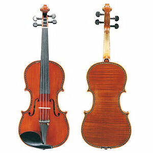 D'Luca Mother Of Pearl Inlaid Ebony Violin Outfit 4/4 Full Size