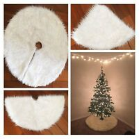 White Plush Fur Carpet For Christmas Tree Decoration New Year Home Party Supply