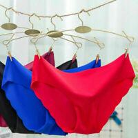 3x Women Seamless Soft Ultra Thin Briefs Panties Hipster Underwear Lingerie Vv
