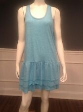 H11 Victoria's Secret M blue sleeveless polyester racerback layer dress Sislou