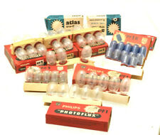 PHILIPS PF1 / PF1B PHOTOFLUX Flash Bulbs (40+) - for Vintage Photography
