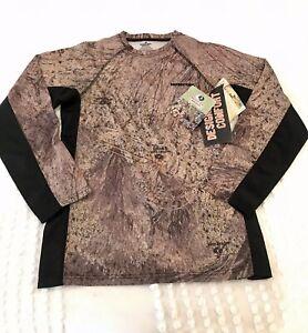 Mossy Oak Brush Camouflage Shirt Long Sleeve T-Shirt Size Youth 2XL Color Block