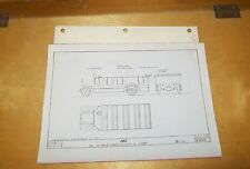 AEC CHAR-A-BANC 24 SEATER & LORRY B TYPE BODY DRAWING PHOTOGRAPH V2116 1921