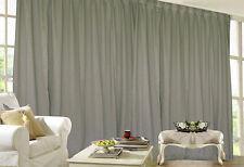 Blockout Curtain 530x230cm PINCH PLEAT 2 panel Blackout High Level Fabric