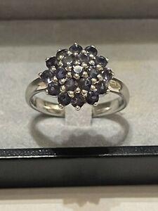 Silber Ring Amethyst Kronenring Krönchenring Edelstein 925 Silber rar Vintage